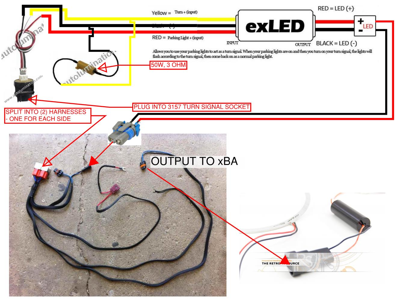 Led Load Resistor Wiring Diagram on kensun 9006 hid wiring diagram