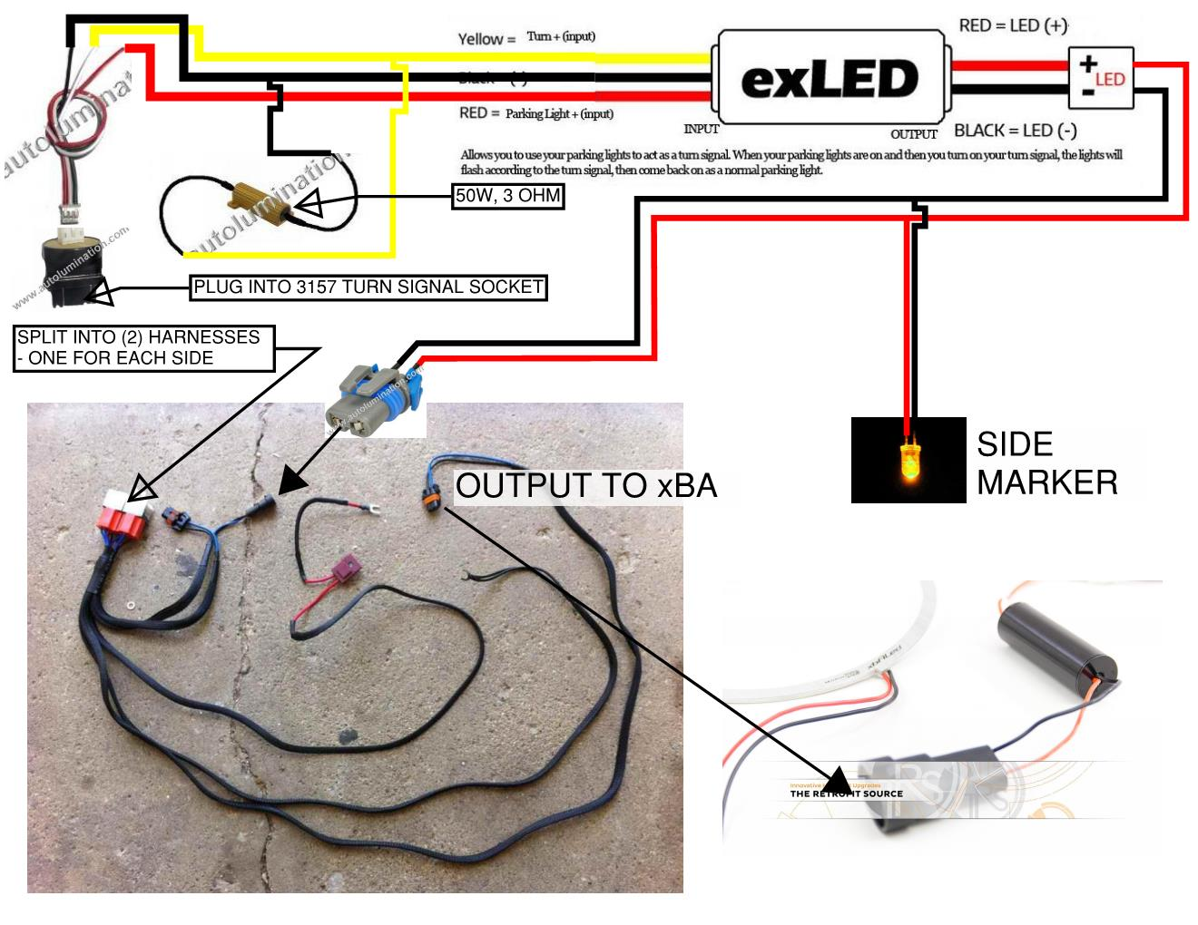 Dodge LED Turn Signal Wire Diagram ver 3 led turn signal causes all lights to flash hidplanet the  at gsmx.co